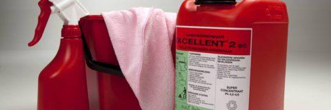 Excellent2, Sanitair reiniger, beltman,beltman hygiene, rood, rode can, excellent ,schoonmaakmiddel