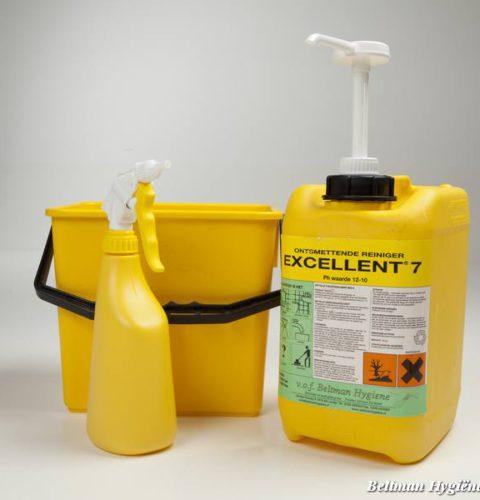 Excellent 7, beltman, beltman hygiene, code, hygiene code, haccp, ontsmettende reiniger, keuken, grootkeuken reiniger, schoonmaak, schoonmaak middelen