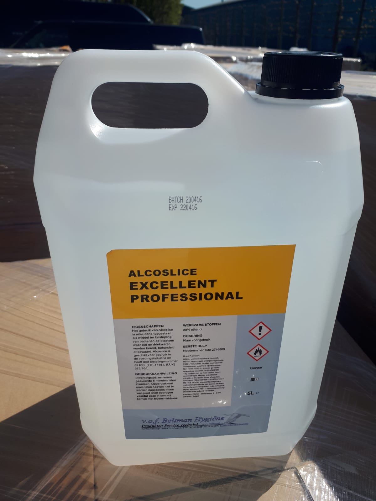 Excellent Alcolice professional: 80% ethanol Image